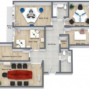 Spatiu birou 5 camere - 130 mp - Unirii - Casa Poporului