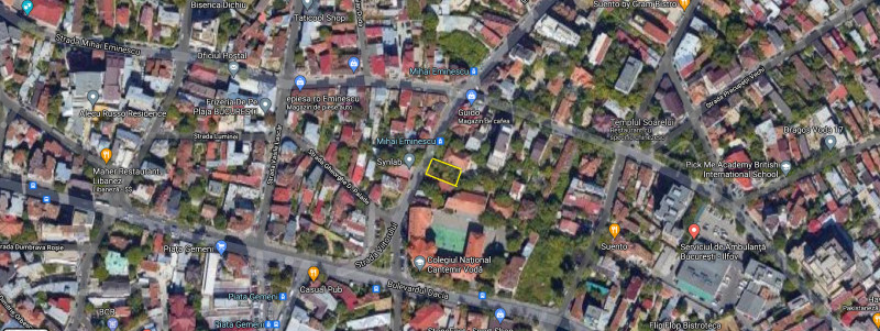 Teren constructii 400 mp ultracentral - zona Eminescu- Dacia